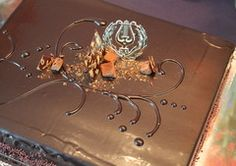 Suklaa-tryffelikakku.