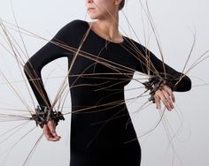 """Holland Houdek, Artist, Untitled Reed Bracelets , 2010, hand-fabricated copper tubing, reeds, liver of sulfur, 4"""" x 4"""" x 4"""", from The Body Adorned online exhibition"""
