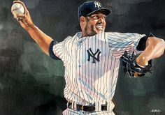 Mariano Rivera - New York Yankees watercolor by Michael Pattison #yankees #pinstripes