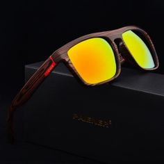 a2d9a042b Retro Imitation Bamboo Wood Sunglasses Men Brand Designer Sport Goggles  Gold Mirror Glasses Shades