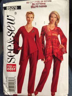 See & Sew B5270 Tunic Pants EZ Pattern Size 16-22 UNCFF #SeeSew