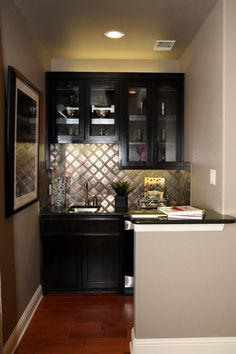 Tin backsplash/wet bar (Tucker Hill)