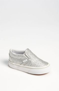 Vans 'Classic' Glitter Sneaker (Baby, Walker Toddler) available at 🌴 Baby Girl Shoes, My Baby Girl, Baby Love, Girls Shoes, Kid Shoes, Teen Girl Fashion, Kids Fashion, Baby Vans, Carters Baby Shoes