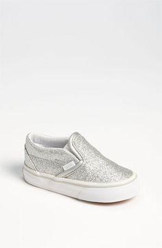 Vans 'Classic' Glitter Sneaker (Baby, Walker  Toddler) available at #Nordstrom