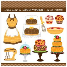 WA98 Baking Diva - Personal and Commercial Use digital clip art. $4.49, via Etsy.