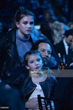 Olivia Vedder, Eddie Vedder and Harper Vedder attend 32nd Annual Rock & Roll Hall Of Fame Induction Ceremony at Barclays Center on April 7, 2017 in New York City. The broadcast will air on Saturday, April 29, 2017 at 8:00 PM ET/PT on HBO.