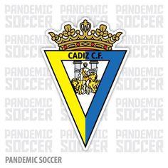 Cadiz CF Spain Vinyl Sticker Decal Pegatina Cadiz Spain, Adhesive Vinyl, Decals, Stickers, Color Print, Soccer, Design, Sport, Travel