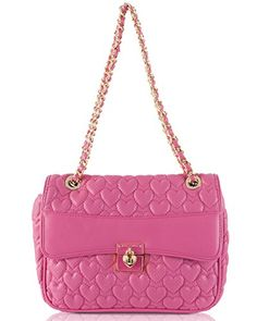 Betsey Johnson Always Be Mine Shoulder Bag - Pink >>> Visit the image link more details. (This is an affiliate link) Closets, Betsey Johnson, Image Link, Chanel, Shoulder Bag, Detail, Stylish, Classic, Pink