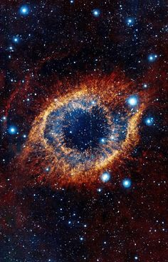 ESO's Visible and Infrared Survey Telescope for Astronomy (VISTA) has captured this unusual view of the Helix Nebula (NGC in this space wallpaper. The Helix Nebula is a planetary nebula located 700 light-years away.