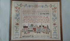 "Country Stitching Stamped Cross Stitch Kit ""Village Green Sampler"" #328 NIP  #CountryStitching"