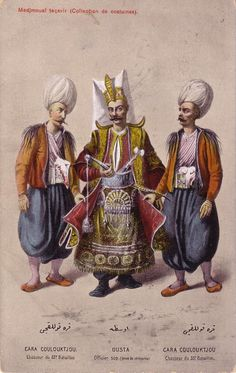 """Ottoman Turkey, Costumes, Medjmouaï Teçavir (1910s) Fruchtermann No. 113. Max Fruchtermann, 1852-1918. The most prominent early publisher of Ottoman postcards, at the age of seventeen he opened a frame-shop at Yüksekkaldirim Istanbul. It is hard to underestimate his role in the publishing scene that followed. He was one of the first """"editeurs"""" (if not the very first) to create postcards depicting the Ottoman Empire."""
