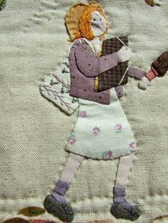 Wool Applique, Applique Patterns, Applique Quilts, Applique Designs, Quilt Patterns, Moon Pillow, Mini Quilts, Children's Quilts, House Quilts