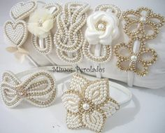 Bead Embroidery Patterns, Bead Embroidery Jewelry, Beaded Embroidery, Beaded Jewelry Designs, Jewelry Patterns, Bridal Hair Fascinators, Hair Accessories Holder, Baby Hair Bands, Kids Headbands