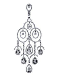Boucles d'oreilles Montega - Elie Chatila, or blanc, diamants, BOR 800.986