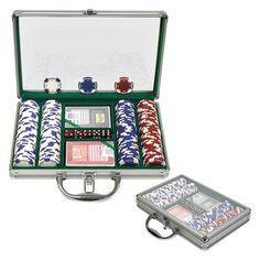 Trademark Global 11.5g Poker Chip Set with Case - 200 Chips - 10-1055-2002C