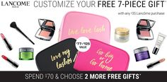 Choose your Lancome Gift when you spend $35 or more online or instores at Belk on Lancome products. http://cliniquebonus.org/lancome-gift-with-purchase/