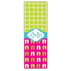 Flip Flop Party Personalized Yoga Mat