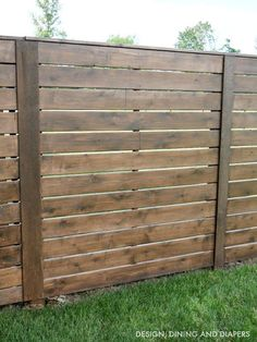 our convenience when swimming in a private swimming pool, we need to include a fencing. This can protect against complete strangers and also wild animals from getting in. Below is a motivation for wooden pool fence ideas. Diy Fence, Fence Landscaping, Pool Fence, Backyard Fences, Garden Fencing, Fenced In Yard, Front Yard Fence Ideas, Fence Art, Modern Landscaping
