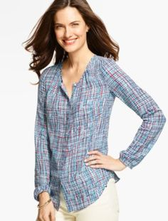 Country Tweed Blouse - Talbots There is nothing country about this blouse!