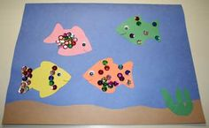 SW - planning April 24th preschool storytime all about fish, and found this Aquarium Fish Craft at All Kids Network.  Cute!!
