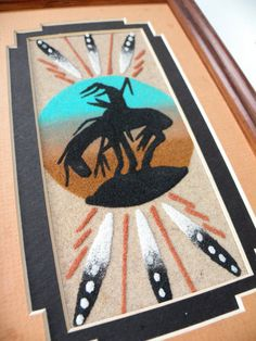 41 best native american sand painting images on pinterest sand sand painting original navajo indian end of the trail authentic ready to ship native american indian art handcrafted signed picture freerunsca Images