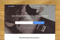 Simplicity - Portfolio Theme by GavickPro on @graphicsmag