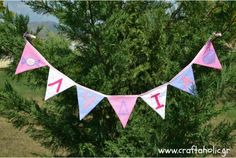 Banner σε αποχρώσεις μοβ, ροζ και φλοράλ