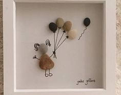 Birds wall art pebble art birds nursery decor rustic home decor new home housewarming gift framed wall art bird lover gift nature art – Artofit Stone Crafts, Rock Crafts, Diy And Crafts, Pebble Pictures, Stone Pictures, Sea Glass Crafts, Sea Glass Art, Cuadros Diy, Its A Girl Balloons
