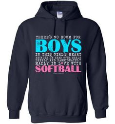 Golly Girls: No Room For Boys Softball Gildan Heavy Blend Hoodie (Youth & Adult Sizes)