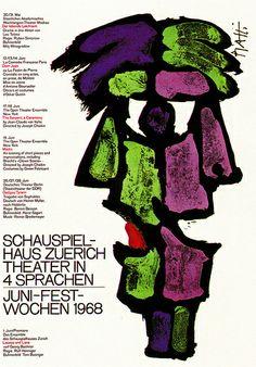 Celestino Piatti, Schauspielhaus Zuerich, 1968