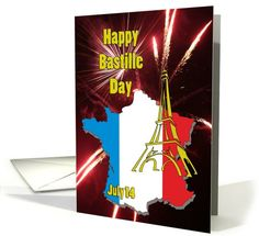 Happy Bastille Day July 14 card