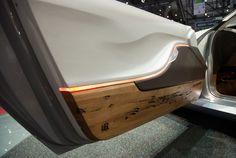 Pininfarina Cambiano Concept at Geneva 2012 Wood from the poles in venice Rear light illuminated from within the car body