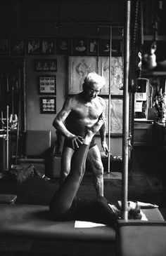 One of our all-time favorite photos of Joseph Pilates, shot with artistic grace and beauty. Love!  www.thepilatesflow.com.sg https://www.facebook.com/ThePilatesFlow