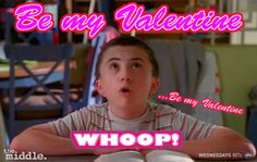 The Middle Valentines The Middle Series, The Middle Tv Show, Kids In The Middle, Atticus Shaffer, Funny Tv Series, My Funny Valentine, Valentines, The Goldbergs, Funny Scenes