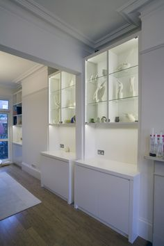 Beautiful unique alcove unit for a West End property in London | www.creativewoodwork.co.uk