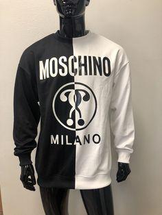 33b5b509b1 Moschino Couture Split Black White Sweatshirt Sweater IT 50 US 40 | eBay