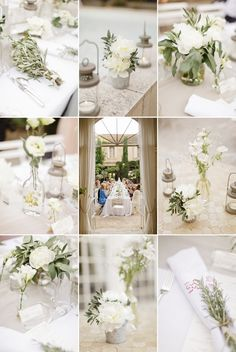 Love the provencal look of this wedding - especially the use of lavender and olive into the floral arrangements