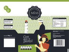 """Realización de logotipo y Packaging para nueva marca de Patatas fritas sanluqueñas. """" Las Mías"""" :)"""