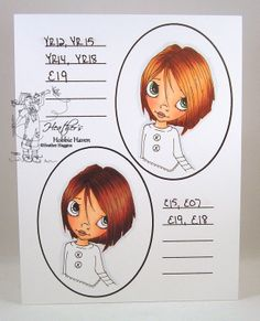 copic marker hair colors | Heather's Hobbie Haven: Hair Color 1,2,3,4 - Copic Markers...