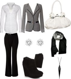 """""""black and white business woman"""" by ravan-24 ❤ liked on Polyvore"""