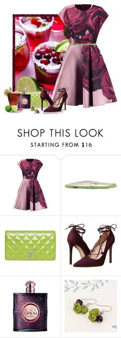 """""""Lime & Pomegranate Margarita"""" by love-n-laughter ❤ liked on Polyvore featuring Giambattista Valli, SCERVINO STREET, Chanel, Massimo Matteo, Yves Saint Laurent and Gama"""