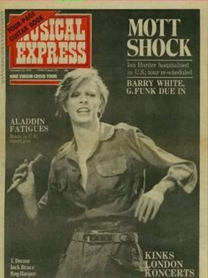 """psychodollyuniverse: """" glamidols: """"David Bowie Magazine covers – 1974 """" Rebel Rebel put on your dress! David Bowie, Ian Hunter, Newspaper Front Pages, Guitar Books, Fanart, Roy Harper, Just Deal With It, Lovers Eyes, Aladdin Sane"""