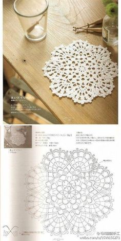Best 12 tea coaster – Page 407857310001944745 – SkillOfKing. Crochet Coaster Pattern, Crochet Doily Patterns, Crochet Chart, Thread Crochet, Crochet Scarves, Crochet Stitches, Crochet Home, Love Crochet, Beautiful Crochet