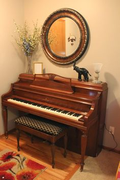 decorating over a piano