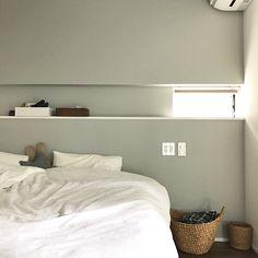 Bedroom/無印良品/寝室/無印/ニッチ/アクセントクロス...などのインテリア実例 - 2017-08-21 14:35:02