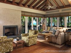 Modern Coastal Living Room by Sharon M. Gilkey Montanna and Associates