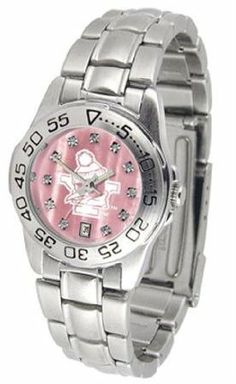 Youngstown State Penguins YSU NCAA Womens Pearl Sports Watch by SunTime. $72.95. Calendar Date Function. Scratch Resistant Face. Rotation Bezel/Timer. This beautiful eye-catching Ladies Sports Mother of Pearl Watch With Stainless Steel Band comes with a stainless steel link bracelet. A date calendar function plus a rotating bezel/timer circles the scratch resistant crystal. Sport the bold colorful high quality logo with pride.Mother of Pearl Dial OptionThe hypnotic ...