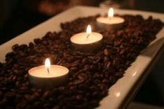 Candles & Coffee deco
