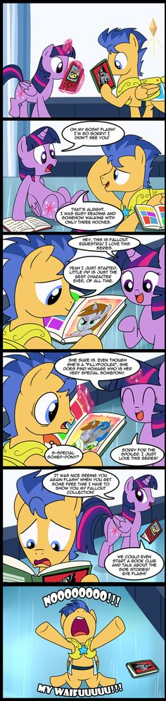 XD Poor Flash! (OMG I JUST REALIZED!! Look at what's on the cover of the book Twilight is reading!!)