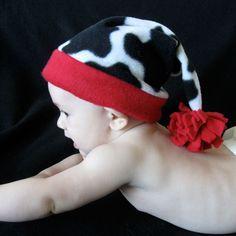 Fleece Stocking Cap/Santa Hat Sewing Pattern PDF - all sizes infant through adult by Tie Dye Diva Patterns